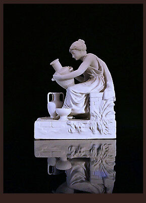 """The Potters"" 2 Of A Pair Of Bisque Porcelain Figures.FR 2nd Hlf. 19th C 20 cm H"