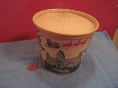 Santa Claus Land Candy or Cookie Container Lily Wax Paper Strong Christmas