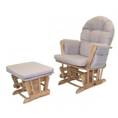 Babylo Milan Glider Chair and Footstool
