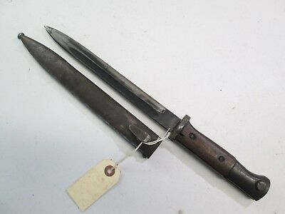 Wwii German K98 Mauser Combat Bayonet With Scabbard No Makers Marked #w21