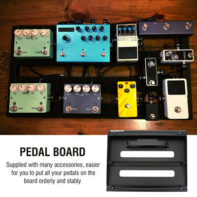 Alloy Pedalboards Effects Pedal Board Cases Electric Guitar + 3 x Hook & Loop