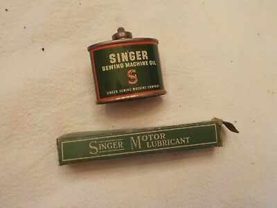 Vintage Singer  Sewing Oil Can And Thbe Of Motor Lubricant