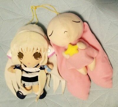 Chobits Plush: Chii in the bakery outfit & Atashi Bunny