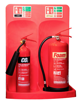New Red Fire Extinguisher Stand - Double
