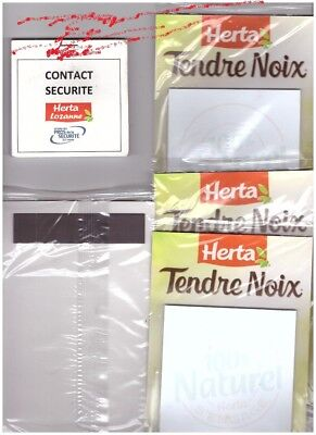 LOT 10 Blocs Note Magnet  PUBLICITAIRES  Neuf + 1 CARNET CONTACT  Herta