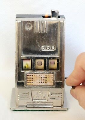 Vintage Slot Machine BENETLEY Table Top Cigarette Lighter In Working Condition