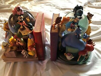 Wonderful World of Disney THROUGH THE YEARS Bookend Snowglobe