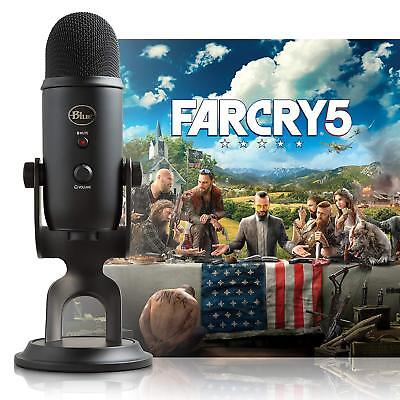 Blue Microphones Yeti Blackout USB Microphone with Far Cry 5 PC