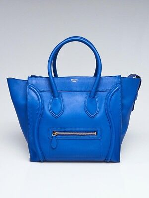 CELINE INSPIRED ORANGE Smooth Calfskin Leather Mini Luggage Tote Bag ... 0d0036a5d6eb9