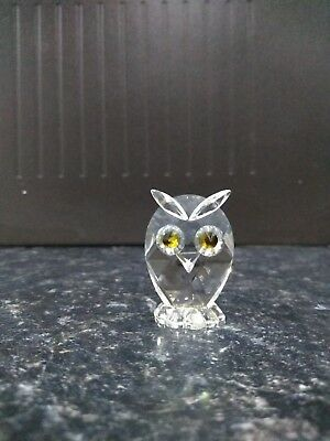 Cut glass crystal Owl