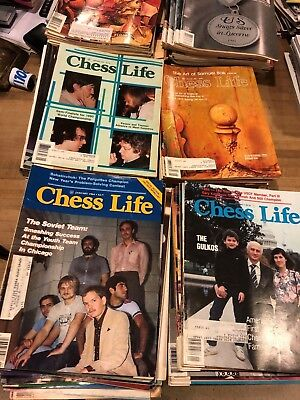 Chess Life Magazine lot  210+ issues 1980-1998 almost complete years