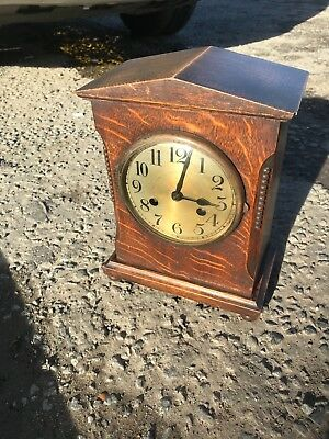 antique french/english chiming mantel clock working
