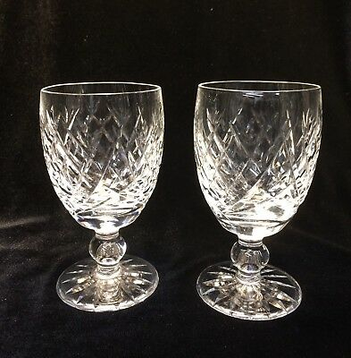 Waterford Crystal Donegal Sherry Glass Pair Vintage made in Ireland