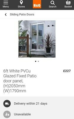 buy online 051bb 924cb BRAND NEW USED white upvc French doors, survey error! 1300 x ...