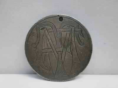 Republic Of Mexicana Large Silver Love Token- F.t.m.