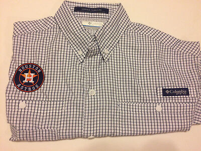 72ca291429b Mens Houston Astros Columbia Sportswear Men's PFG Super Tamiami Fishing  Shirt S