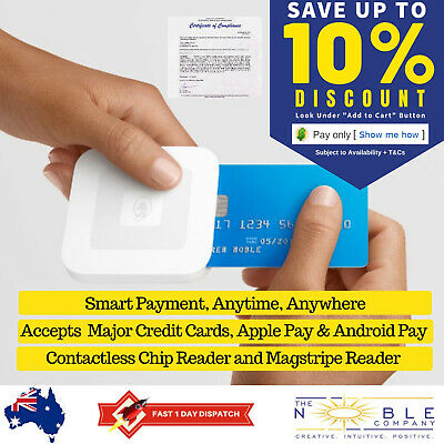 Square Contactless and Chip Card Reader Credit Debit Card Payment Point of Sale
