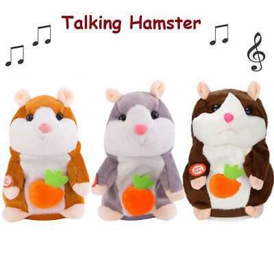 Cute Talking Nod Hamster Mouse Record Chat Mimicry Pet Plush Toy Gifts Xmas Gift