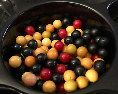 Year-end Clean-out 100 Bakelite 11mm Beads Assorted Colors Some With Holes