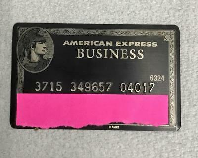 Authentic American Express Business Amex Centurion Black Metal Card Expired