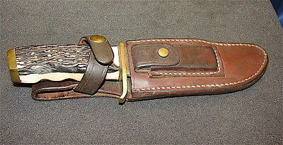 Old Vintage Schrade #171UH~~ Hunting Knife and Leather Sheath---Choice Knife