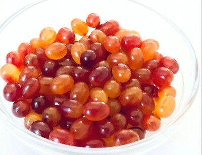 Year End Clean-out - 113 Bakelite10mmx7mmCherry & Honey Amber Ovals No Holes