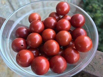 Year-end Clean-out 32 Bakelite 15mm Red-Colored Beads - With Holes