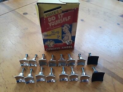 16 Vintage NOS cabinet door pulls drawer kitchen retro mid century Yoder'S