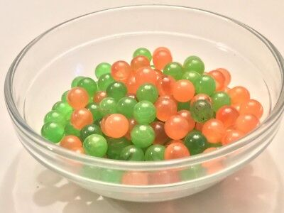 Year-end Clean-out 100 Bakelite 7mm Pink &Green Translucent Beads No Holes