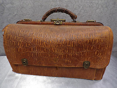 French Antique Leather Doctor's Satchel * Circa 1930