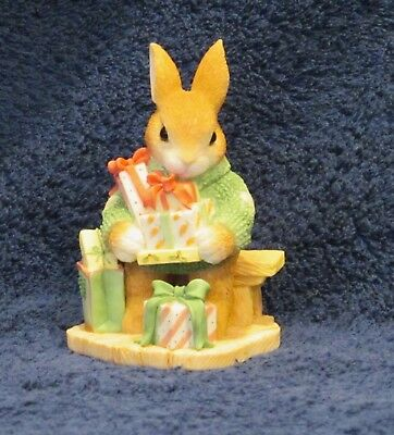 """ENESCO MY BLUSHING BUNNIES Figurine """"Bless Some-Bunny With Holiday Cheer"""""""