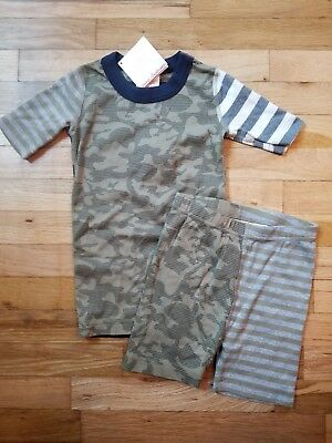 NWT Hanna Andersson Organic CAMO MIX-IT-UP Short John Pajamas 150 12 Sold Out