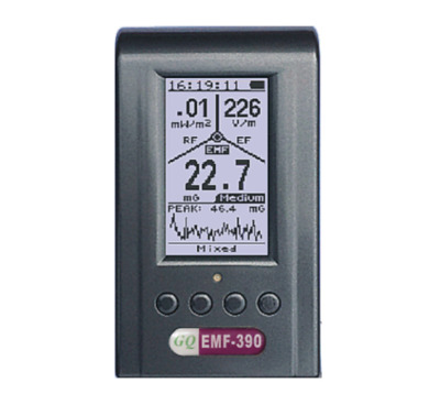 Advanced EMF-390 3-in-1 multi-field Electromagnetic EMF Meter with Data logger