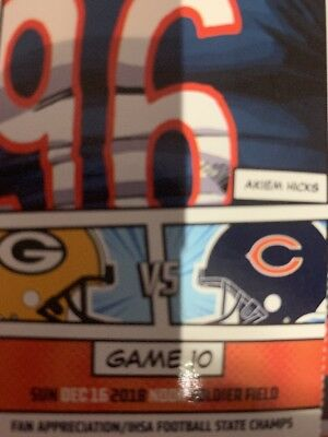2 Tickets Chicago Bears vs Green Bay Packers 12noon at Soldier Field Aisle Seats