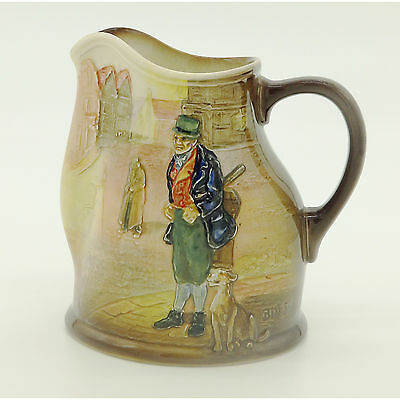Royal Doulton Antique Porcelain  relief Series moulded Dickensian Jug C.1930's