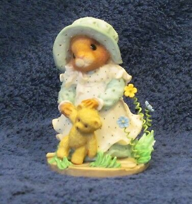 """ENESCO MOUSE TALES MY BLUSHING BUNNIES Figurine  """"A Child's Prayer"""""""