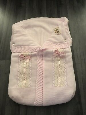 Stunning Baby Girls Le Casita De Pepino Baby Cacoon Footmuff pink BNWT