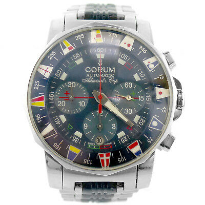 Corum Automatic Admirals Club Navy Dial Chrono S.s. Mens Watch - Parts/repairs
