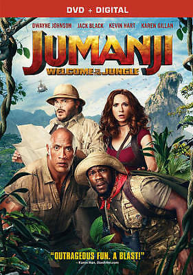 Jumanji: Welcome To The Jungle (Dvd 2018)~ Brand New~ Digital Copy~ Sealed~
