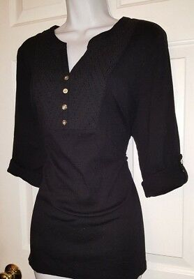 Adorable career top in a versatile black color by Karen Scott - NEW, size large