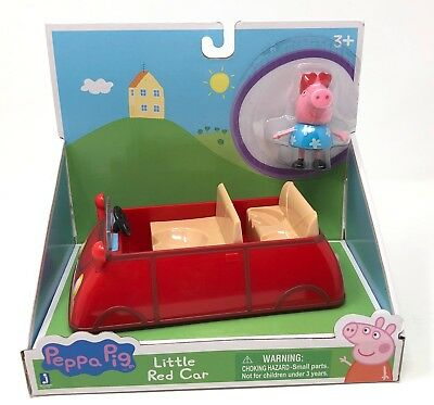 Jazwares Peppa Pig LITTLE RED CAR playset figure 2 pieces Christmas gift