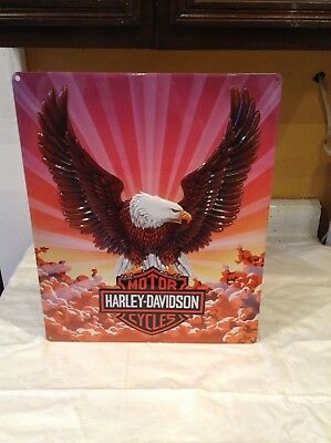 Harley Davidson Motorcycles Sign Ande Rooney Eagle Bird Hang Wall