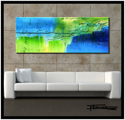 ABSTRACT PAINTING MODERN Canvas WALL ART Framed  Large Signed US ELOISExxx