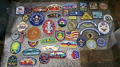 100 Item Lot, Boy Scouts Of America Patches, Badges, Pins, Book, Montana, Idaho