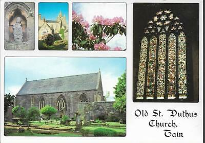 Tain, Ross & Cromarty, Highland - St. Dathus Church - multiview postcard c.1980s