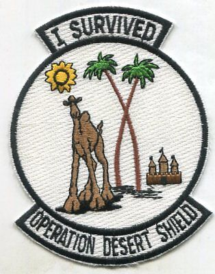I SURVIVED Operation DESERT SHIELD LARGE JACKET PATCH iron On or Sew On