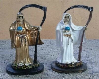 Santa Muerte/Holy Death Statue Combo/5 Inches Tall/Set of TWO