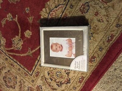 Engraveable Picture Frame Silver Plated Baby Frame New