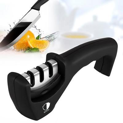 SEYOR Kitchen Knife Sharpener - Professional Quick 3 Stage Sharpening System...