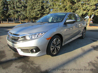 2018 Honda Civic Sedan EX-T CVT EX-T CVT New 4 dr Sedan CVT Gasoline 1.5L 4 Cyl Lunar Silver Metallic